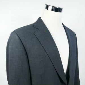 Paul Stuart Mens 40R Sport Coat Dark Gray Wool